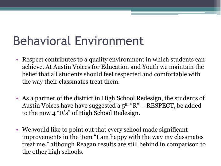 Behavioral Environment