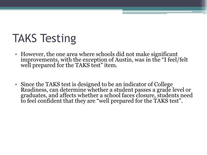 TAKS Testing