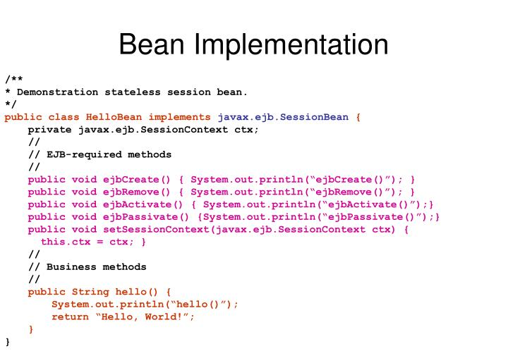 Bean Implementation