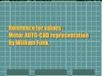 reference for values motor auto cad representation by william funk