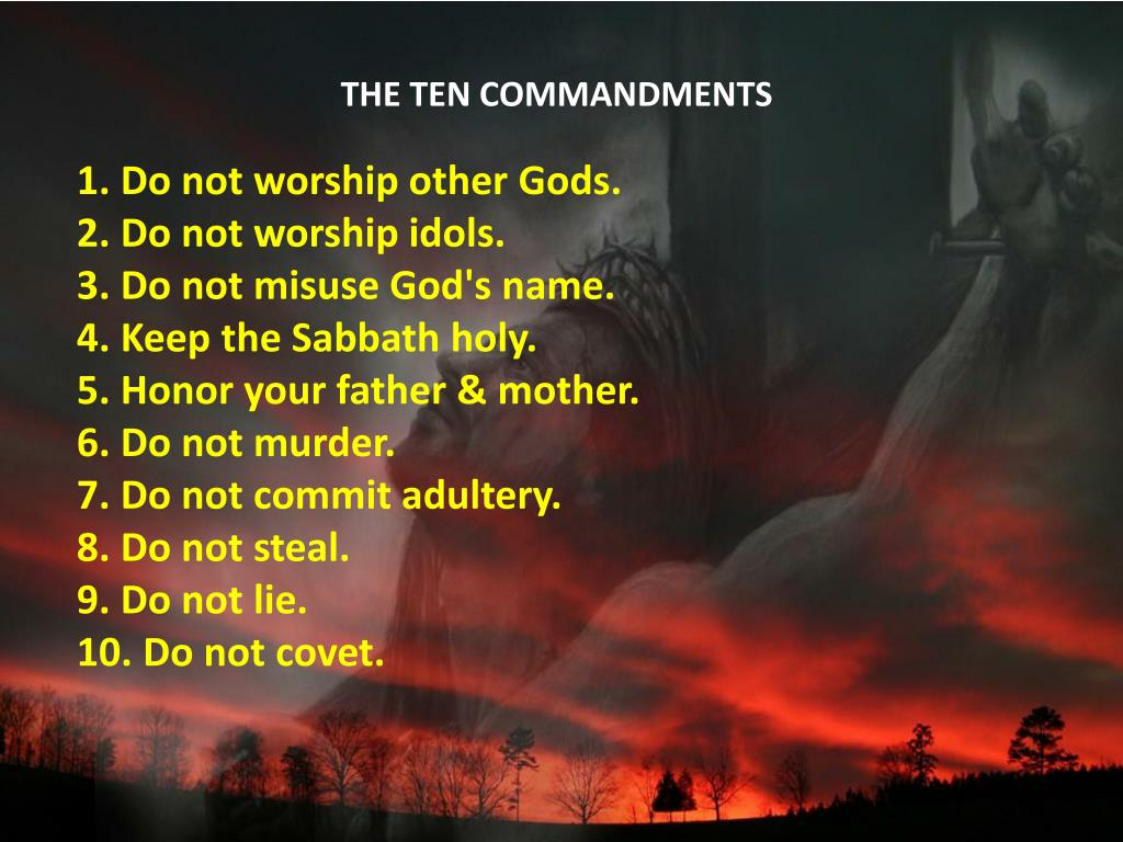 Ppt The Ten Commandments Powerpoint Presentation Free Download