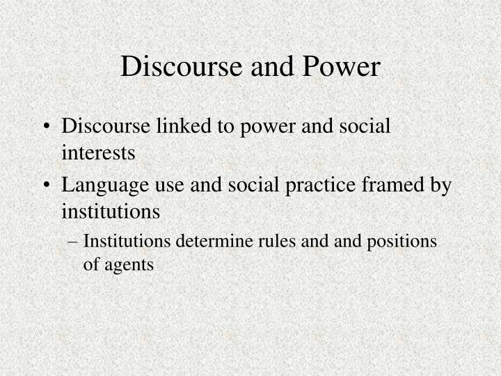 discourse in use 6 what is a discourse approach waves of communicative style and form and value which lead us to argue in later chapters that the idea of culture is mostly too large a concept to really capture the complexity of interdiscourse communication and we argue.