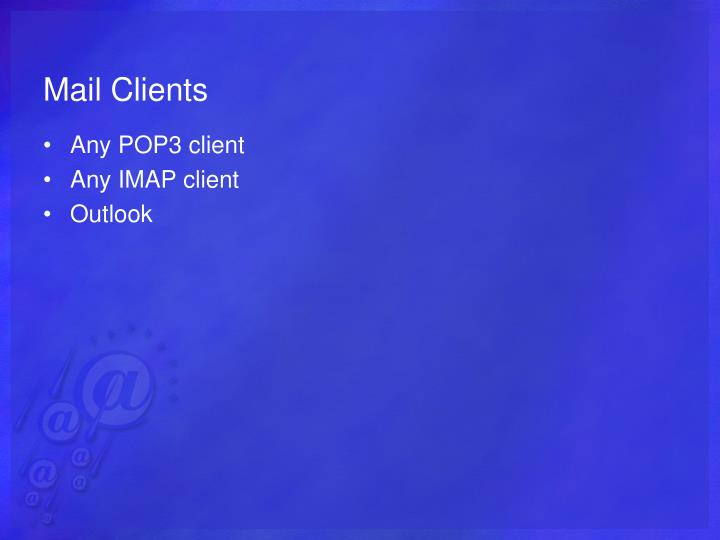 Mail Clients