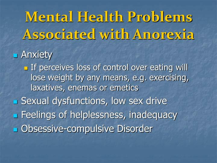 Mental Health Problems Associated with Anorexia