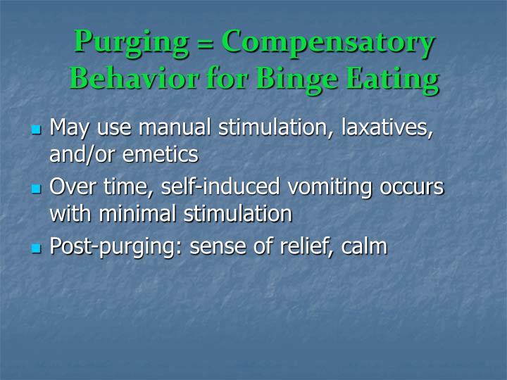 Purging = Compensatory Behavior for Binge Eating