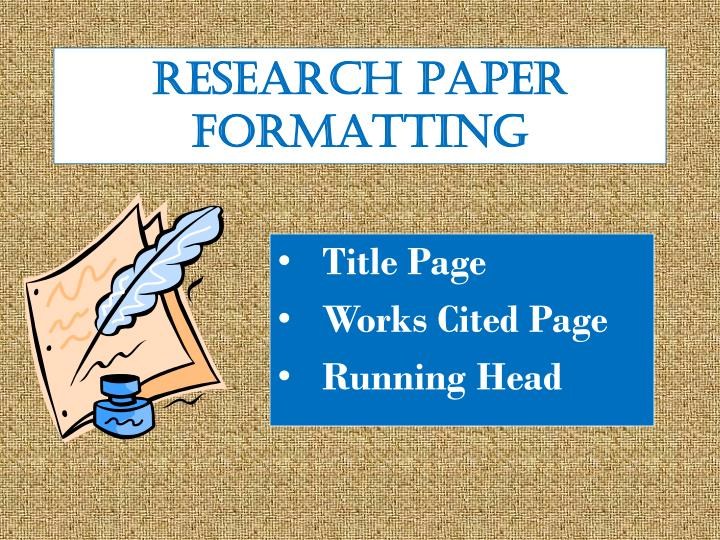 how to put a running head on a research paper Make sure your word processor is set to this paper size before you format your header 2 you can put your entire if you have a number of research.