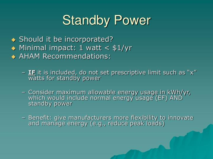 Standby power