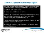 scenario a patient admitted to hospital