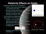 relativity effects on orbits