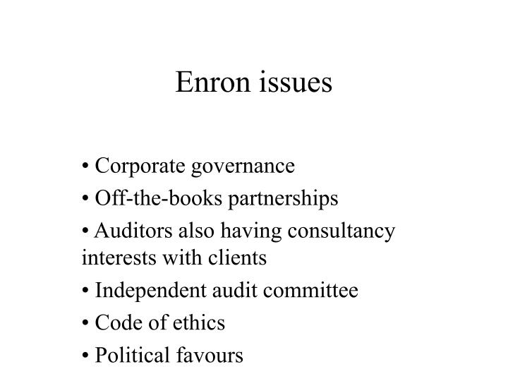 Enron issues