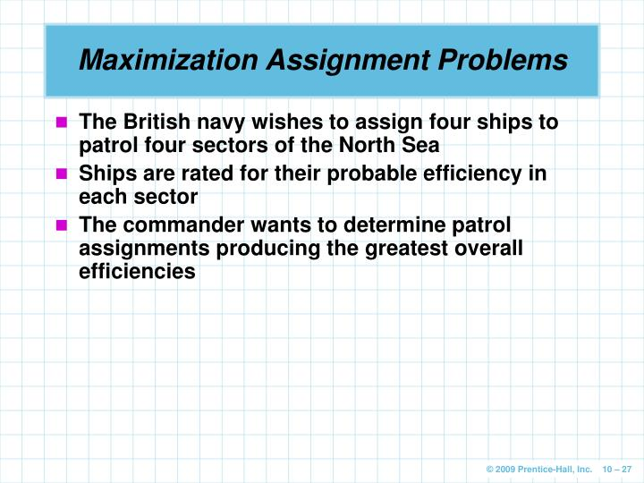 assignment problem hungarian method maximization