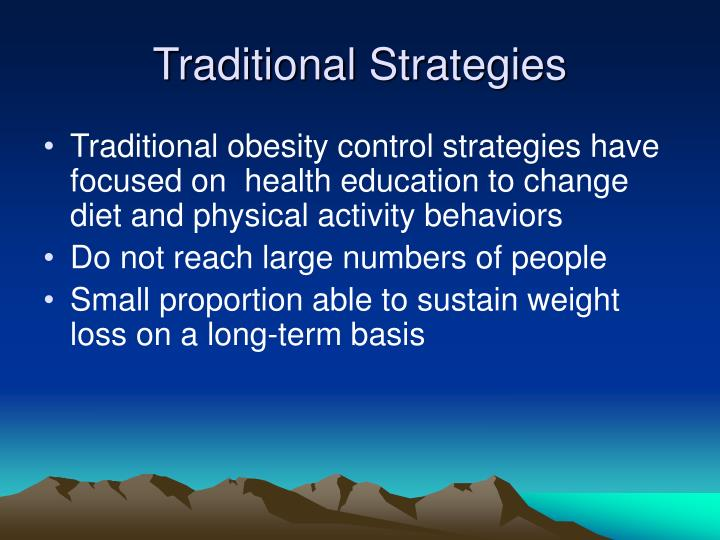 Traditional Strategies