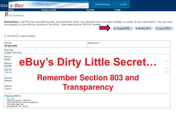eBuy's Dirty Little Secret…