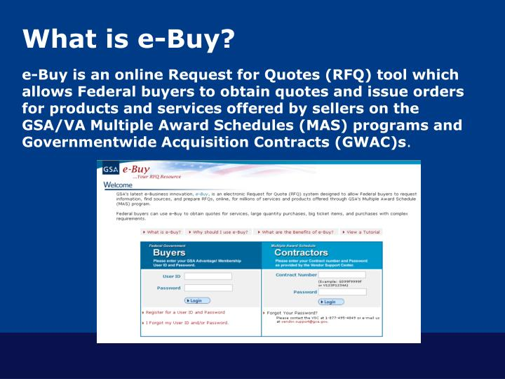 What is e buy