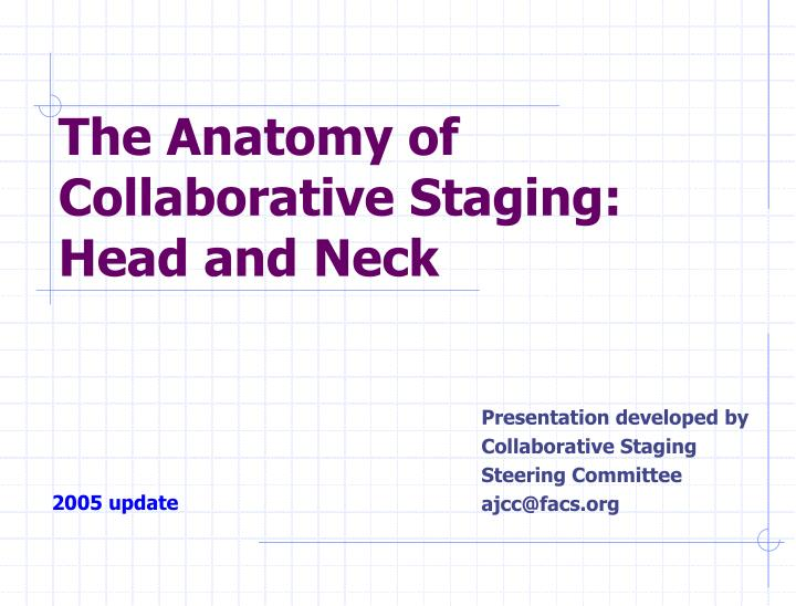 the anatomy of collaborative staging head and neck n.