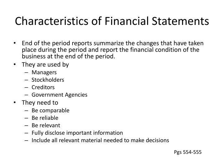 characteristics of financial reporting pdf