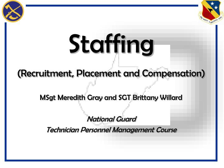 Staffing recruitment placement and compensation