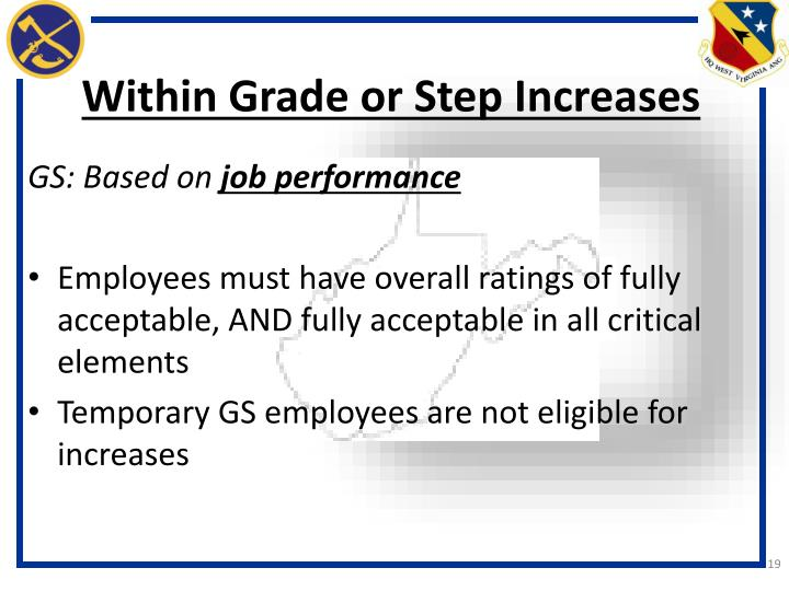 Within Grade or Step Increases