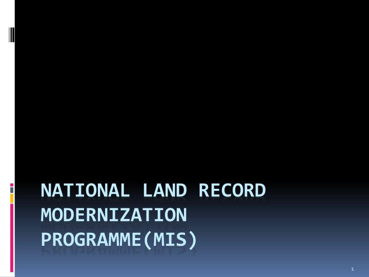 national land record modernization programme mis n.