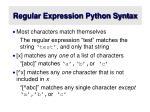 regular expression python syntax