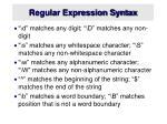 regular expression syntax1