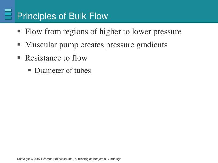 Principles of bulk flow