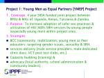 project 1 young men as equal partners ymep project