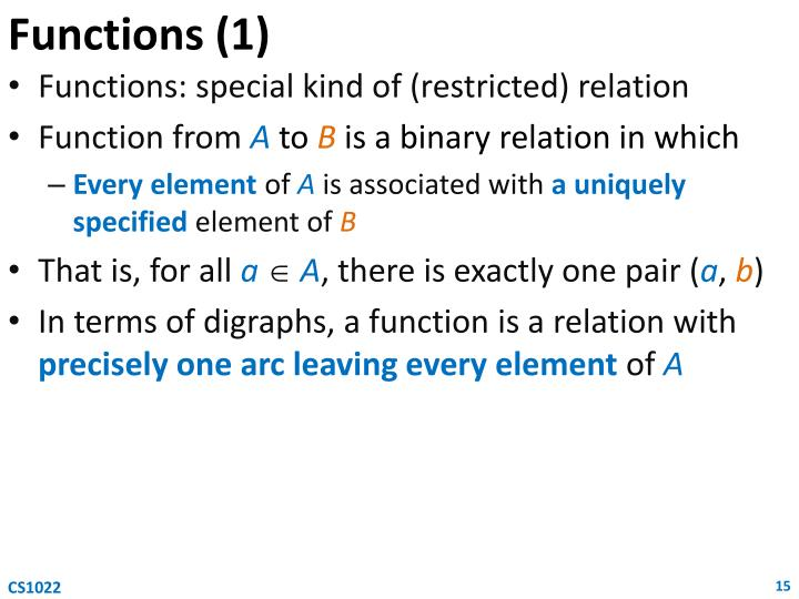 Functions (1)
