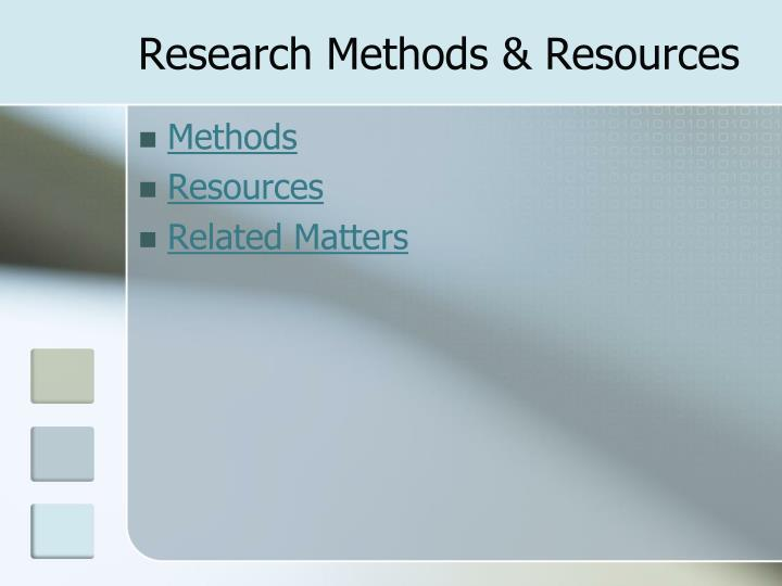 Research methods resources1