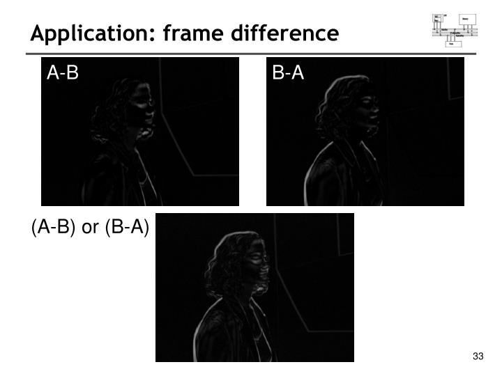 Application: frame difference