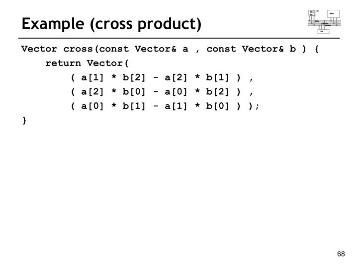 Example (cross product)