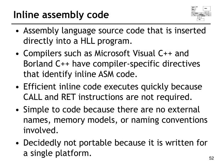Inline assembly code