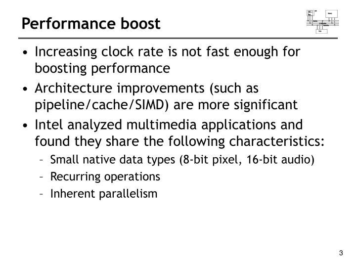 Performance boost