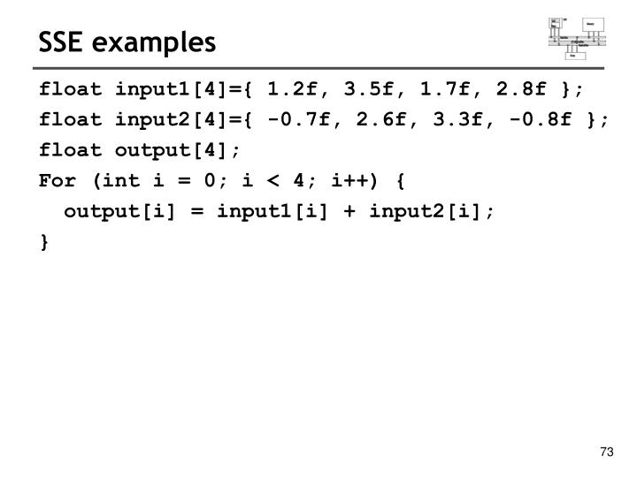 SSE examples