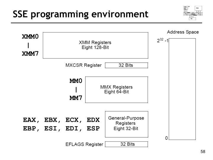 SSE programming environment