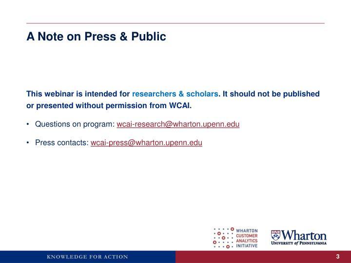 A note on press public