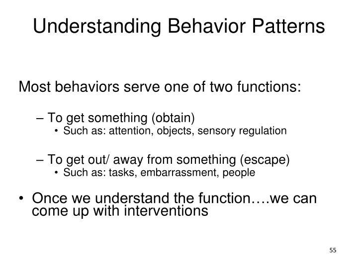 Understanding Behavior Patterns