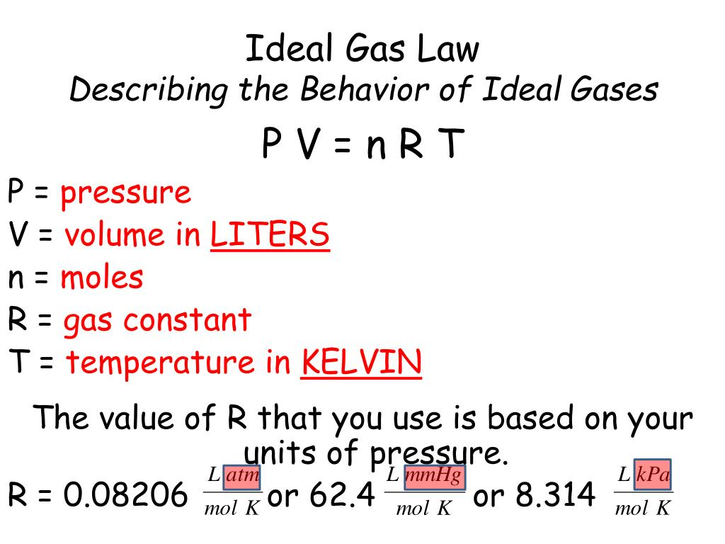 PPT - Behavior of Gases PowerPoint Presentation - ID:3099616
