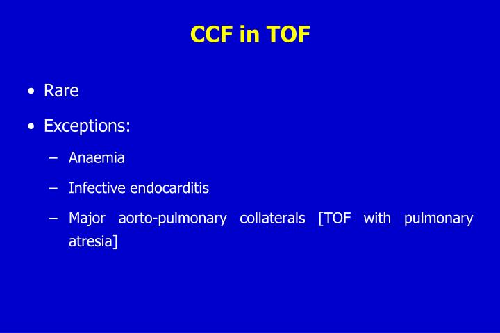 CCF in TOF