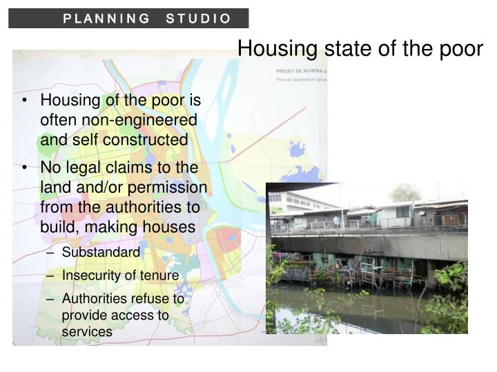 Housing state of the poor