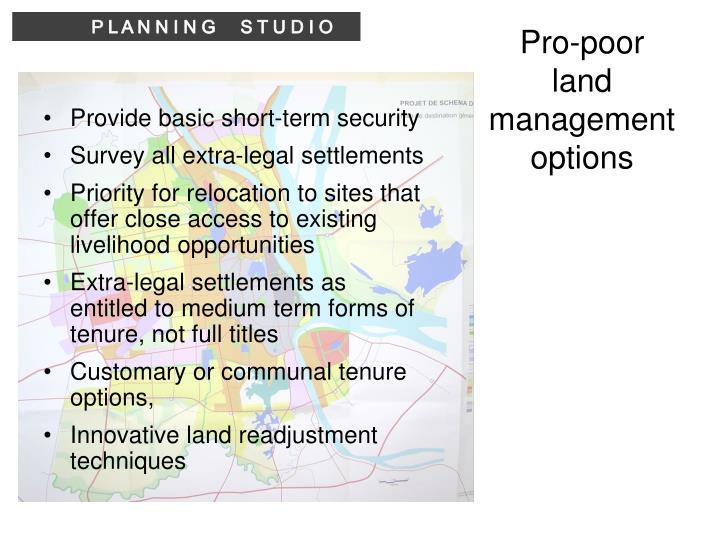 Pro-poor land management options
