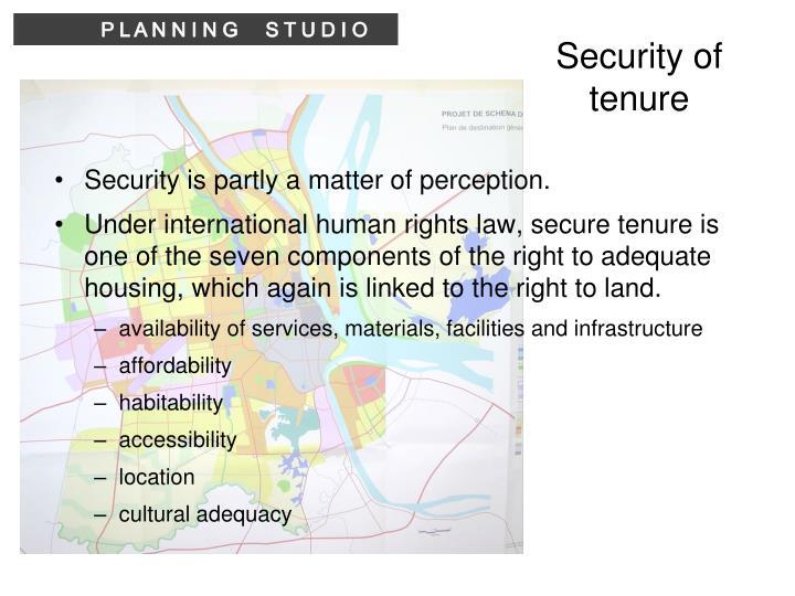 Security of tenure
