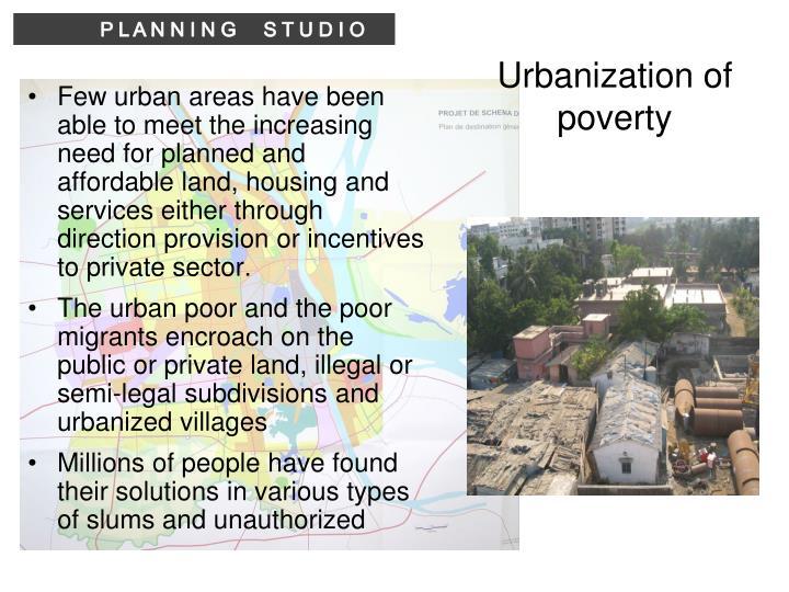 Urbanization of poverty