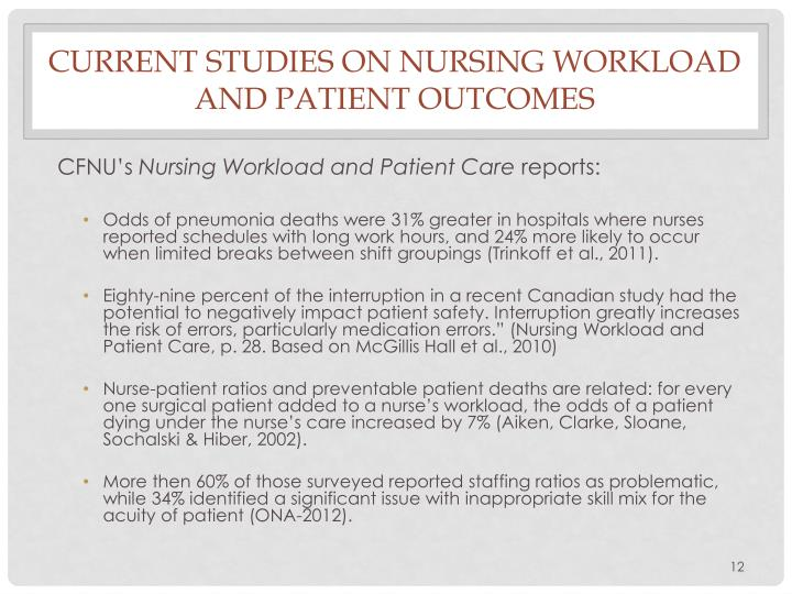the effects of working over the nurse-to-patient ratios essay The nurse-to-patient ratio, the more benefits the patients and  possible positive effects of a high nurse-to-patient ratio on patient outcomes (kanai, 2007 yasukawa, 2008), but others reported no significant correlations between the nurse-to-  capable of implementing a 7:1 patient-to-nurse staffing ratio influence the nurses' work.