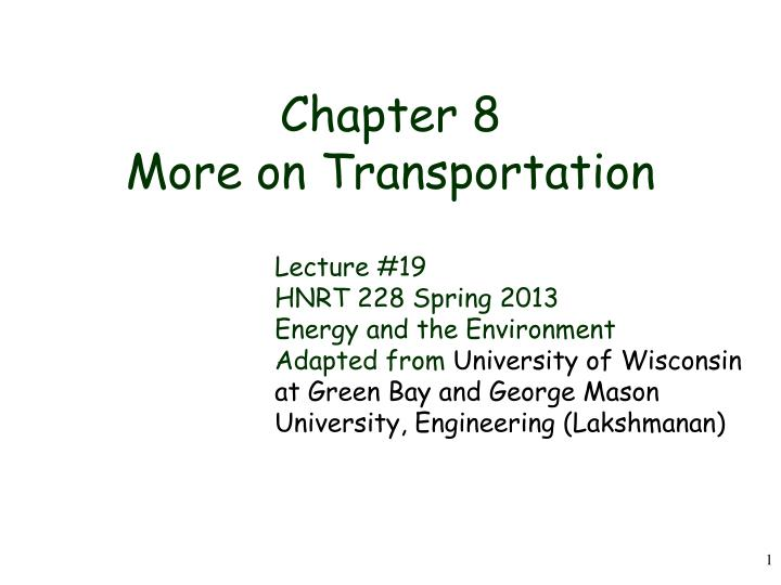 chapter 8 more on transportation n.