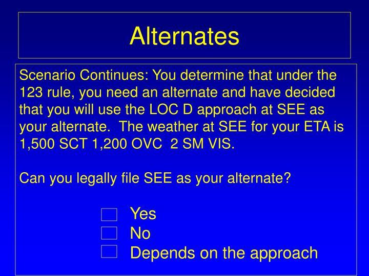 Alternates