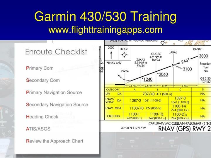 Garmin 430/530 Training