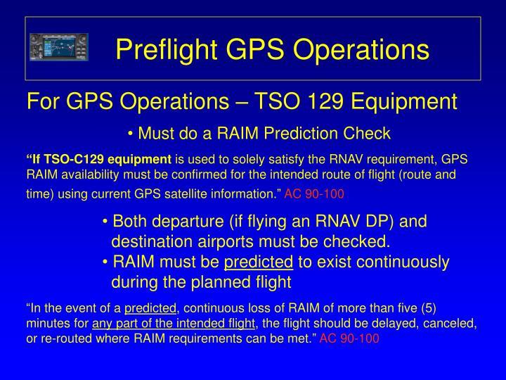 Preflight GPS Operations