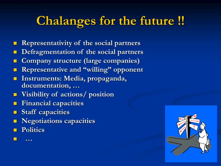 Chalanges for the future !!