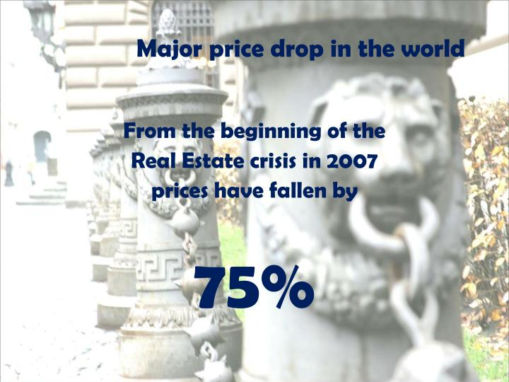 Major price drop in the world